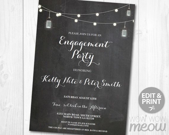 Engagement Party Invitations Couples Shower Invites Wedding