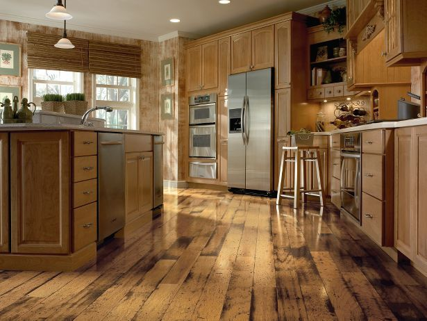 Distressed wood flooring Armstrong, 5