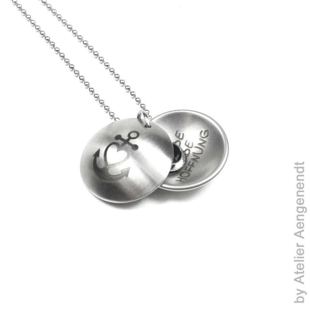 Silber925 Taufkette,Kinderkette,Gravur Anhänger mit Taufring Schutzengel betend