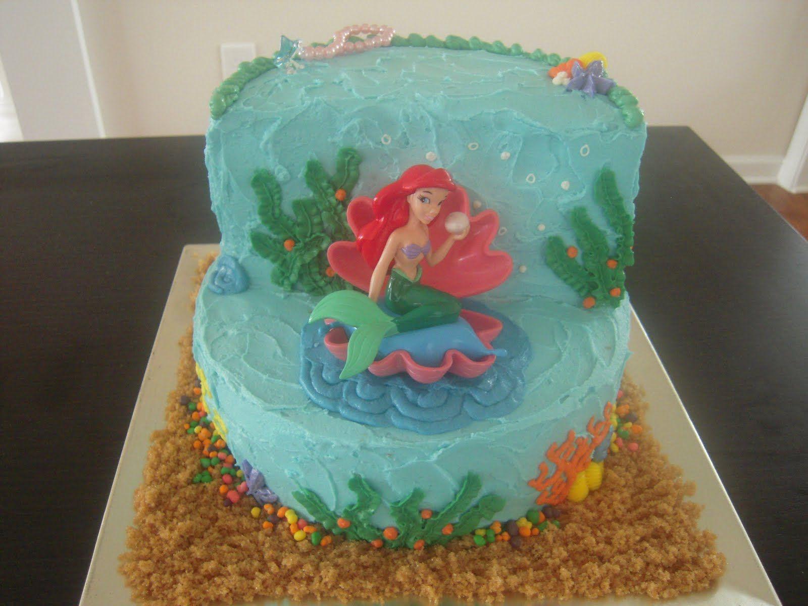ariel cake   Little Mermaid cake