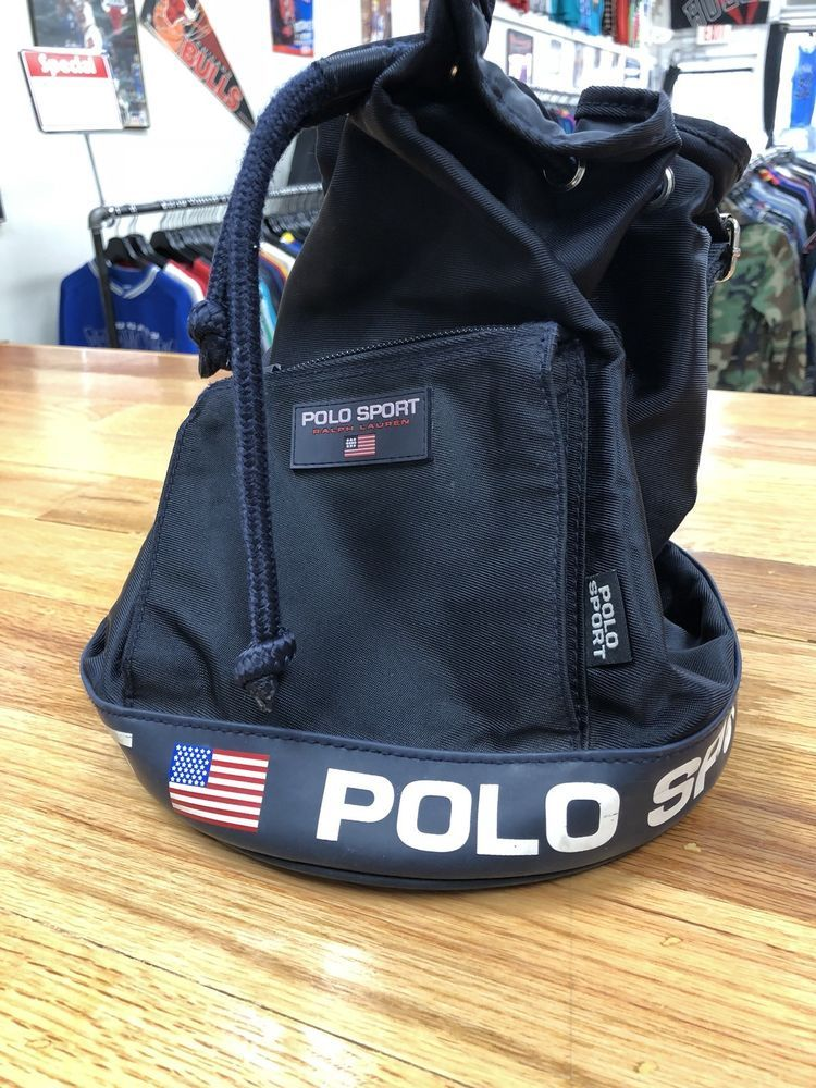 f96b7c0a22d2 vintage Polo Ralph Lauren polo sport backpack Black Free Shipping