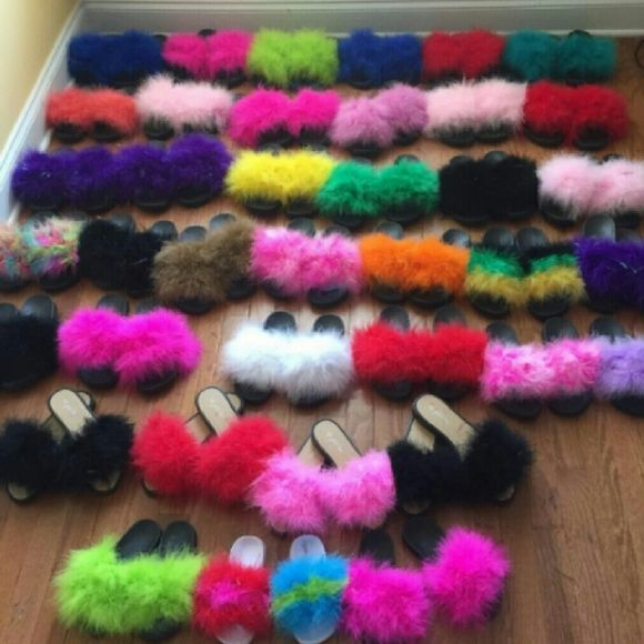 d3dea75c17f72 Nike and puma fur slides ( Fur babies) Can check me out on ercari Nike  Shoes Sandals