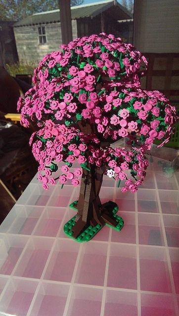 Building A Cherry Blossom Tree Lego Town Lego Flower Lego Tree Lego Design