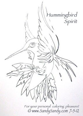 *Sketching Everyday*: Hummingbirds and a Bear - Free Coloring Pages ~ http://www.sketchingeveryday.com/2012/07/hummingbirds-and-bear-free-coloring.html