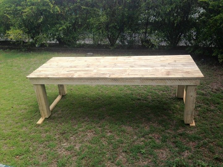Simple Pallet Dining Table- 58 DIY Pallet Dining Tables | DIY to Make
