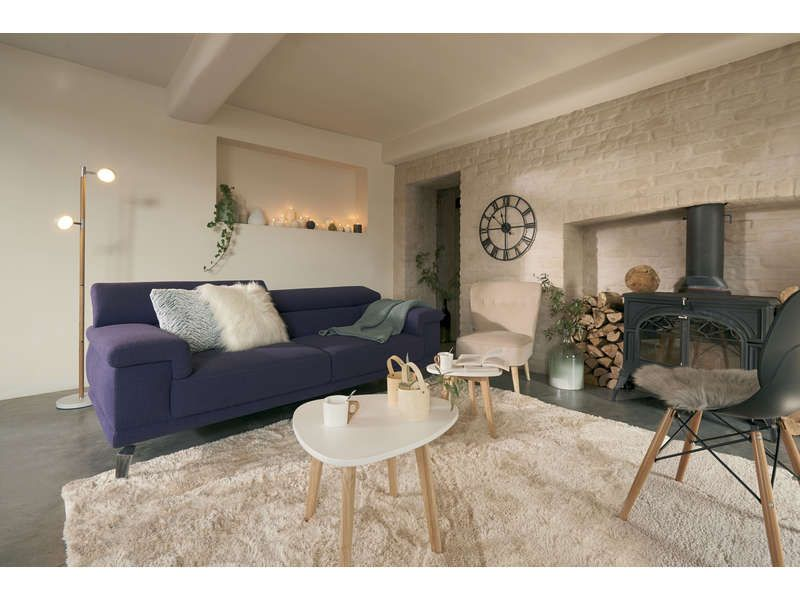finest canap fixe places denver coloris violet prix promo canap conforama uac ttc au lieu with. Black Bedroom Furniture Sets. Home Design Ideas