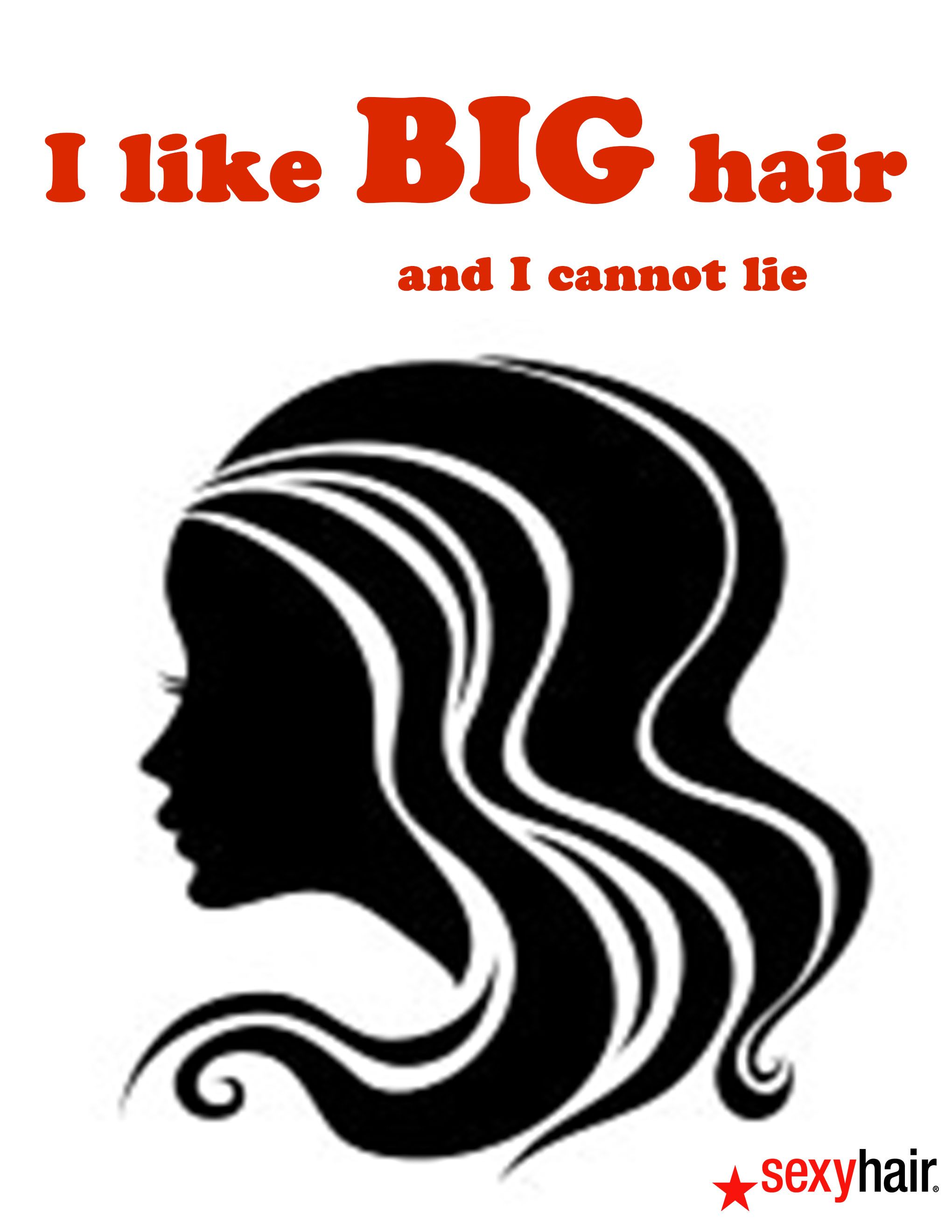Behind the chair hair ecards - I Like Big Hair And I Cannot Lie