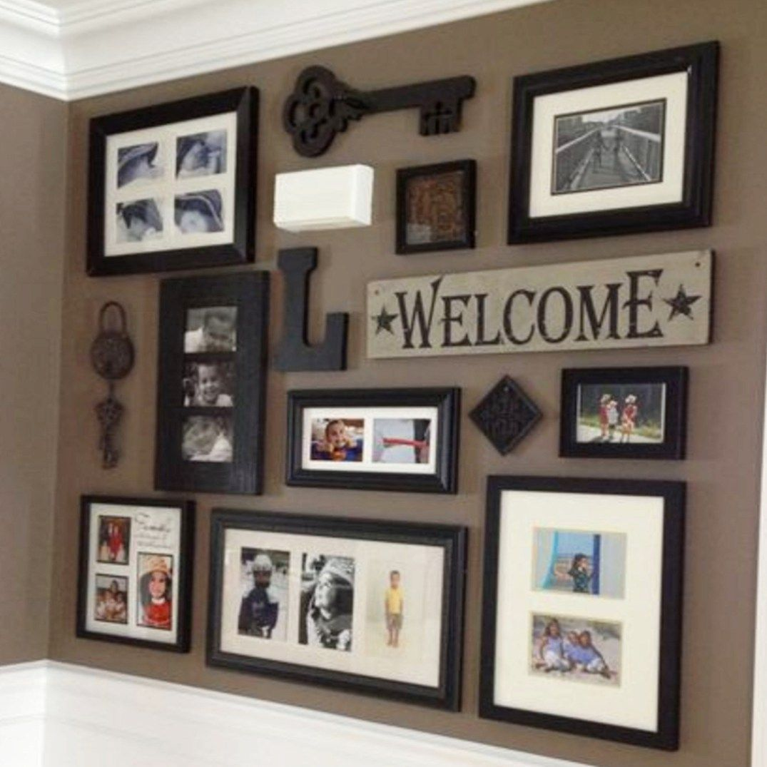 Rustic Gallery Wall Ideas Photo Displays Rustic Gallery Wall Diy Gallery Wall Family Gallery Wall