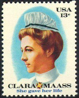 Postage stamp honoring nurses, US