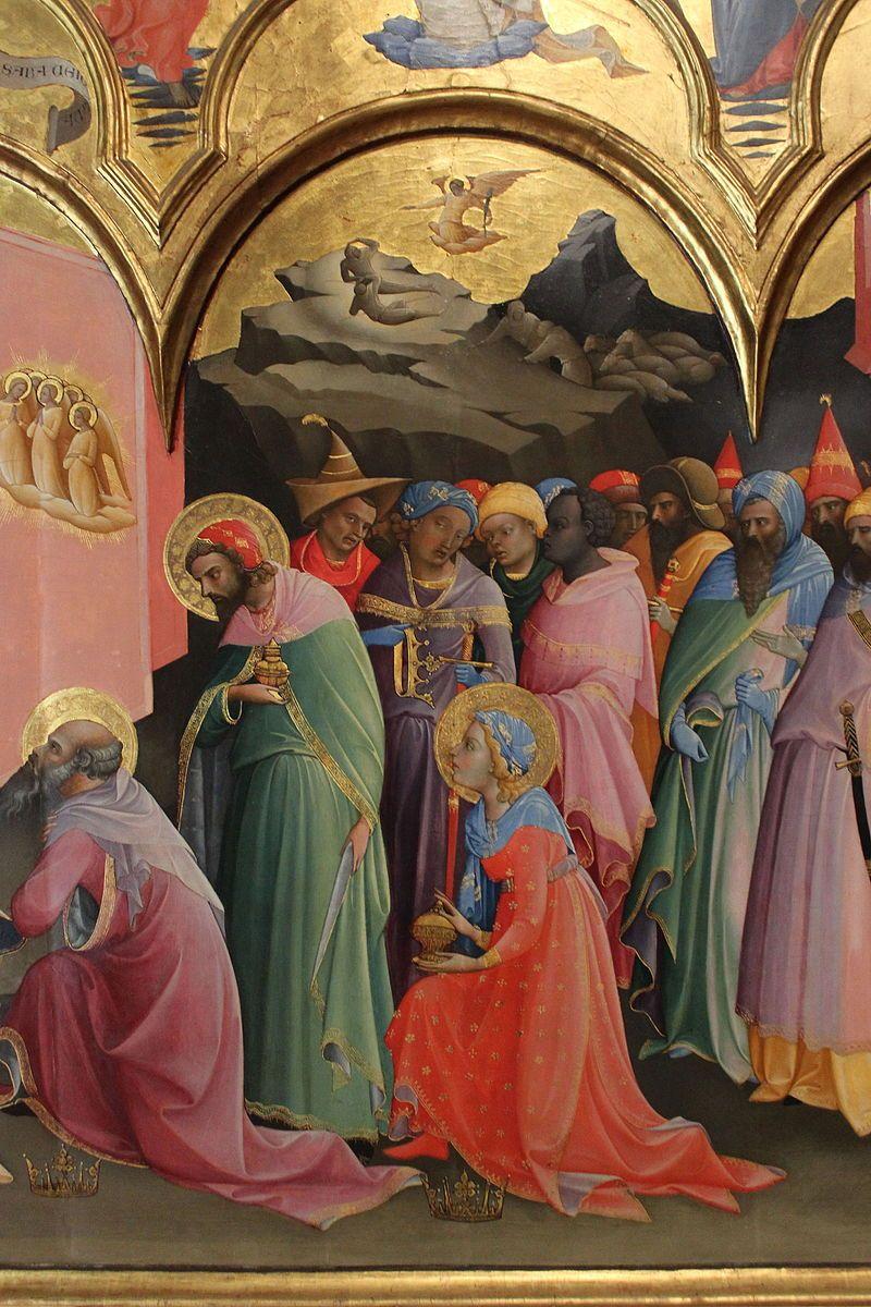 Lorenzo Monaco - Adorazione dei Magi (Uffizi), dettaglio - 1420-1422 - Galleria degli Uffizi, Firenze