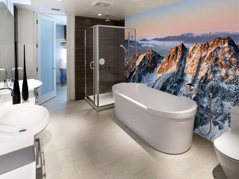 Fototapete Badezimmer ~ Bathroom wall wrap house pinterest walls and house