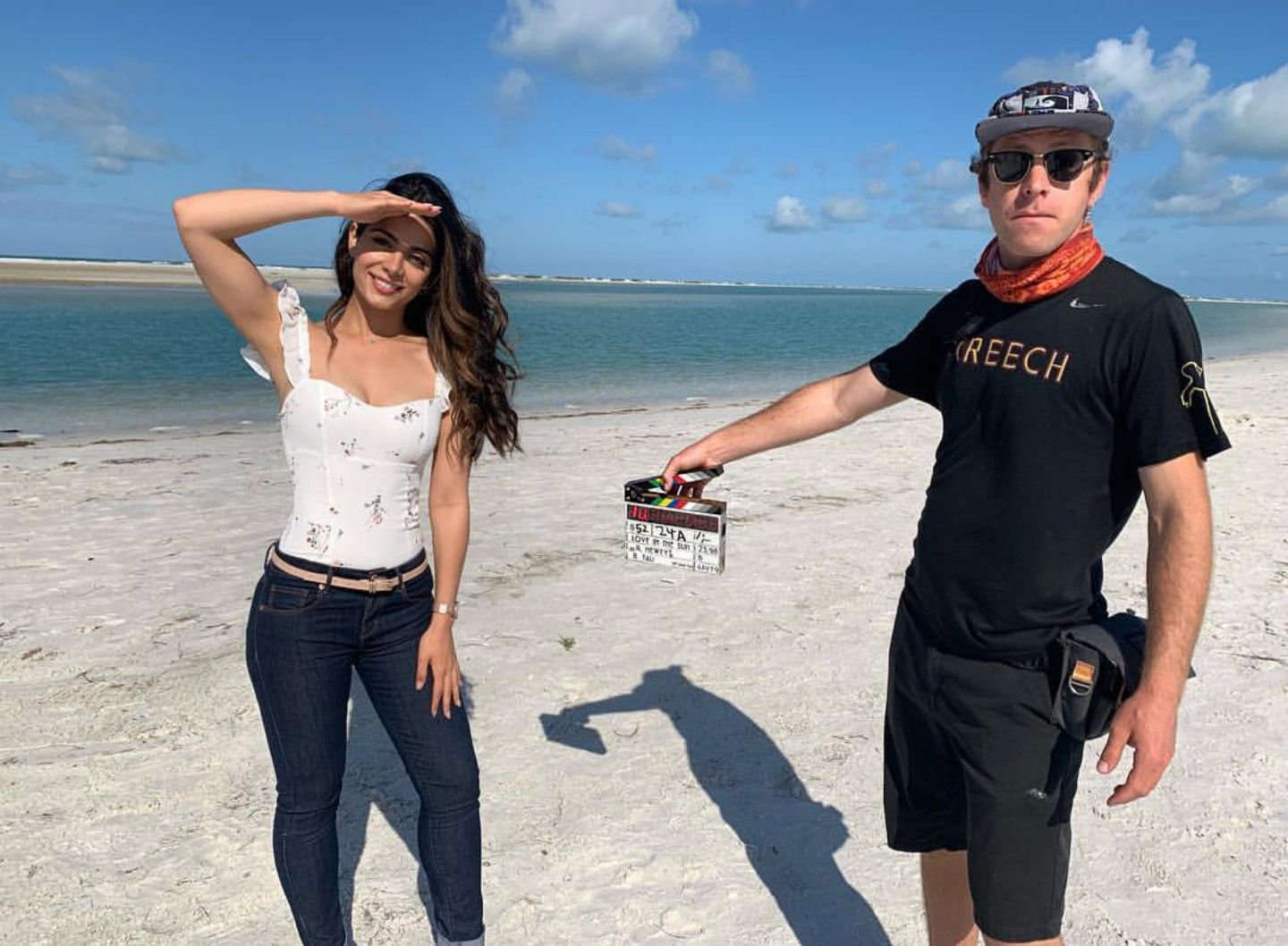 Emeraudetoubia On Set Of Her New Movie Love In The Sun Emeraude Toubia On Set New Movies