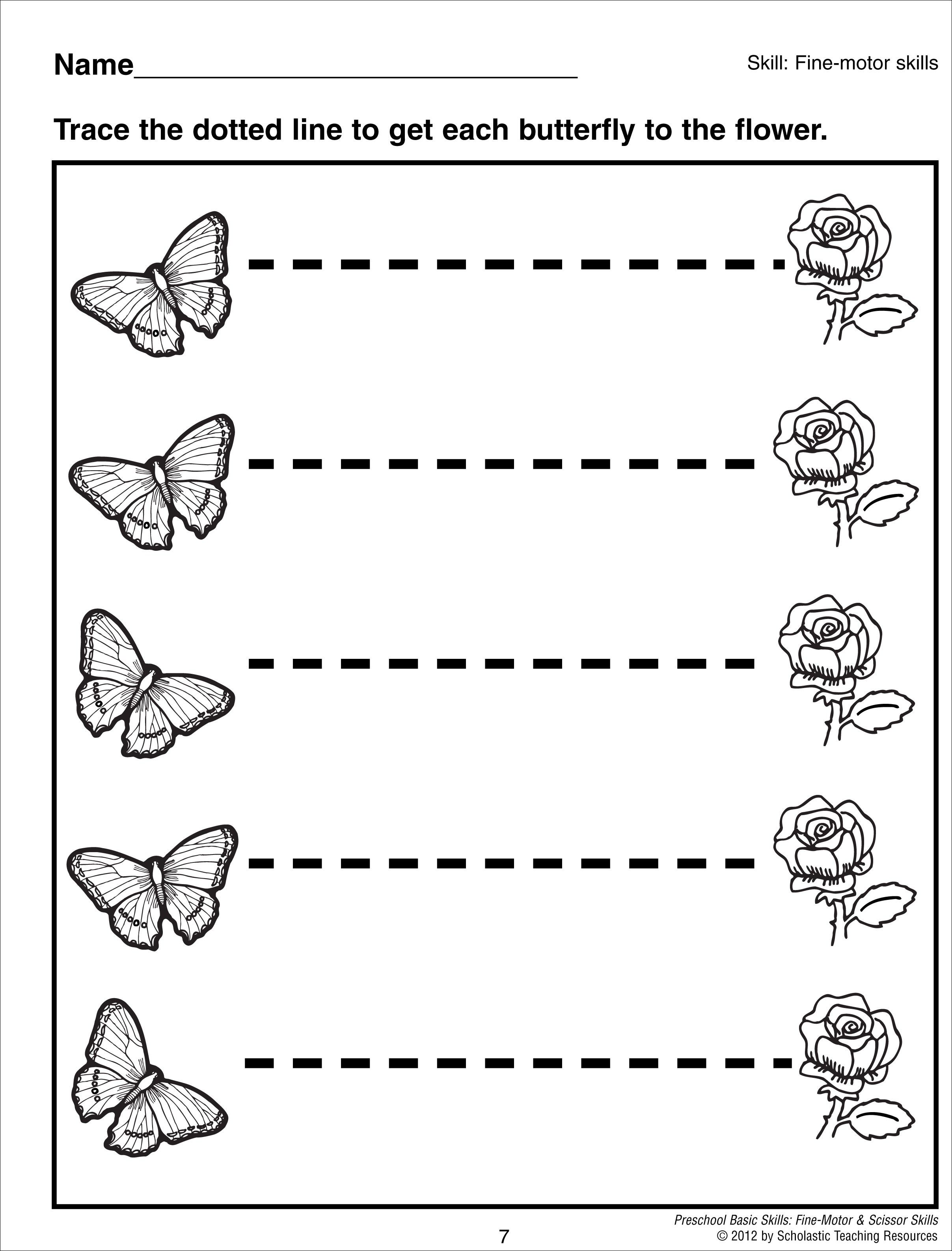 math worksheet : tracing horizontal lines preschool basic skills fine motor  : Tracing Lines Worksheets