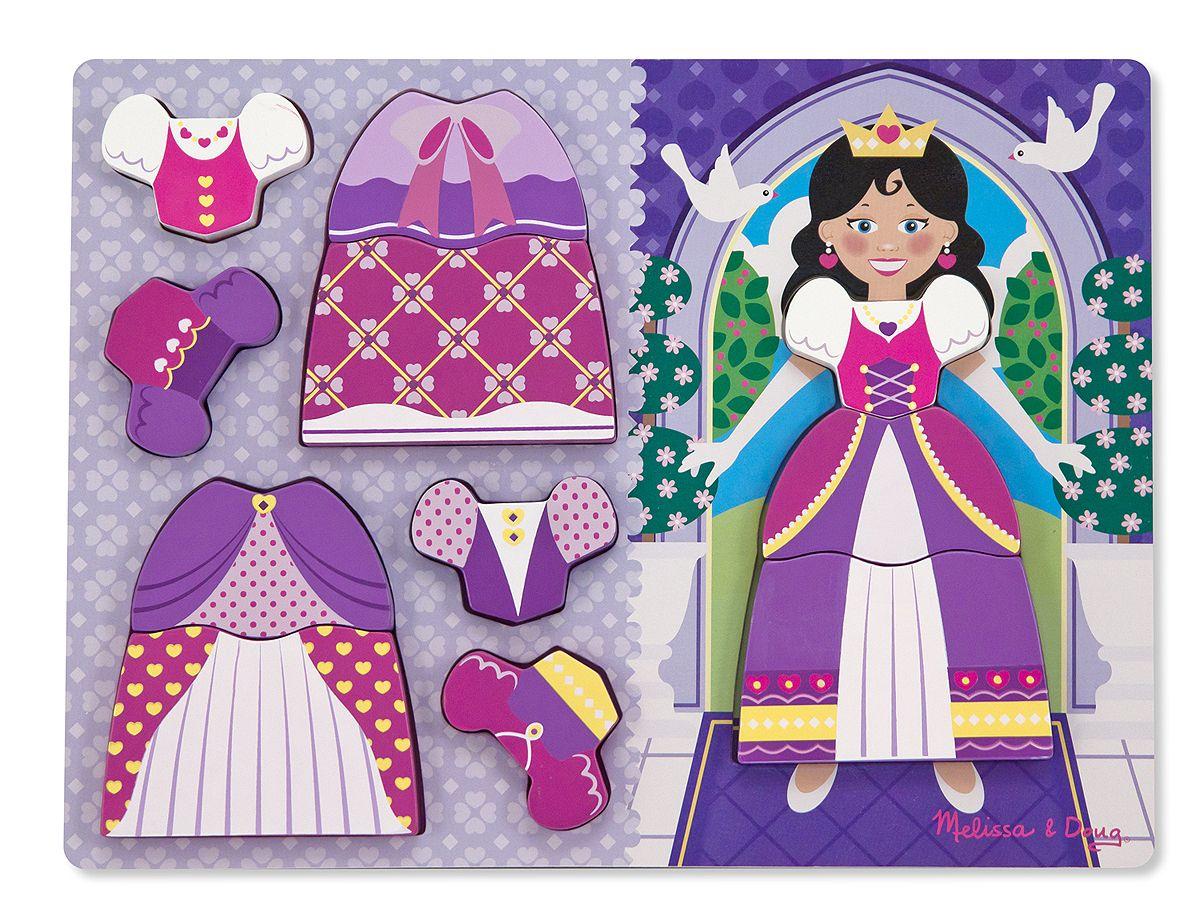 Melissa /& Doug Princess Dress-Up chunky puzzle Brand New Free UK Delivery