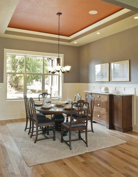 Dining Room With Tray Ceiling. House Plan No.327512 House
