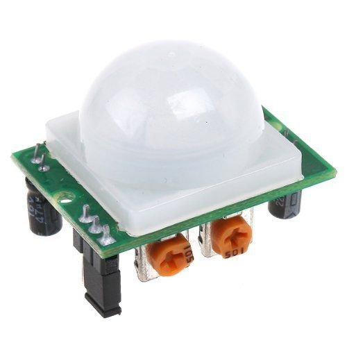 White Pyroelectric Infrared PIR Motion Sensor Detector Module by TOMTOP. $6.21. This product is a infrared sensor with control circuit board, adjustable sensitivity and holding time, suitable for the field of security, toy, automation control etc. Specifications: Working voltage: DC 4.5V--20V Quiescent Current: Less than 60uA Voltage output: High/Low level signal:3.3V TTL output Detection distance: 3--7M(can be adjuted) Detection angle: <110° Blockade time: 2.5S (default) Trigg...