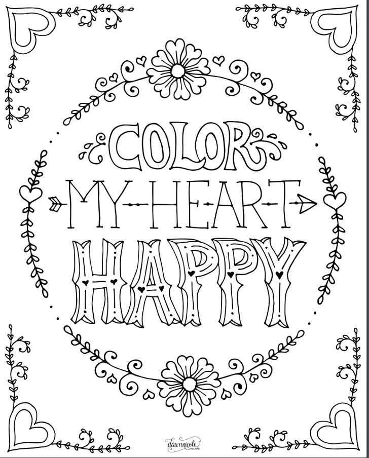 Color My Heart Happy Love Coloring Pages Coloring Books Free Printable Coloring Pages