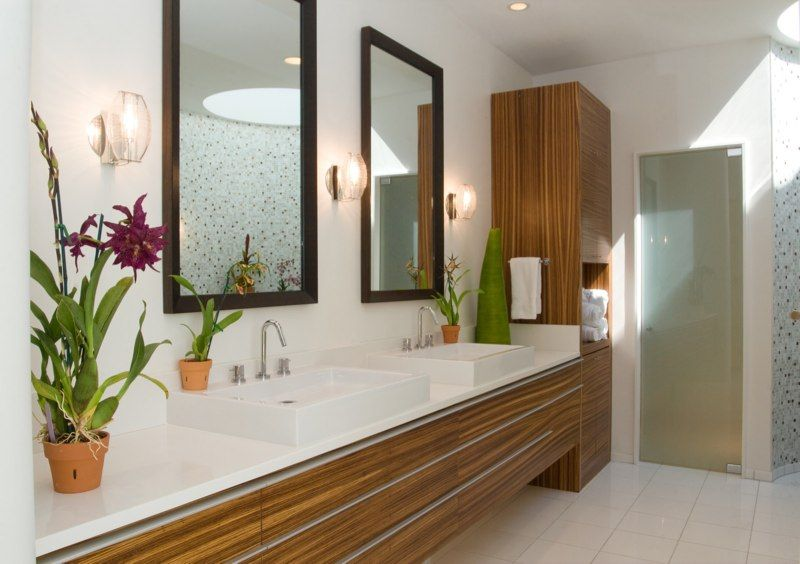 Geist Remodel Master Bath Zebrawood Vanity  Cabinets  Zebra Wood Amusing Bathroom Remodel Indianapolis Design Inspiration