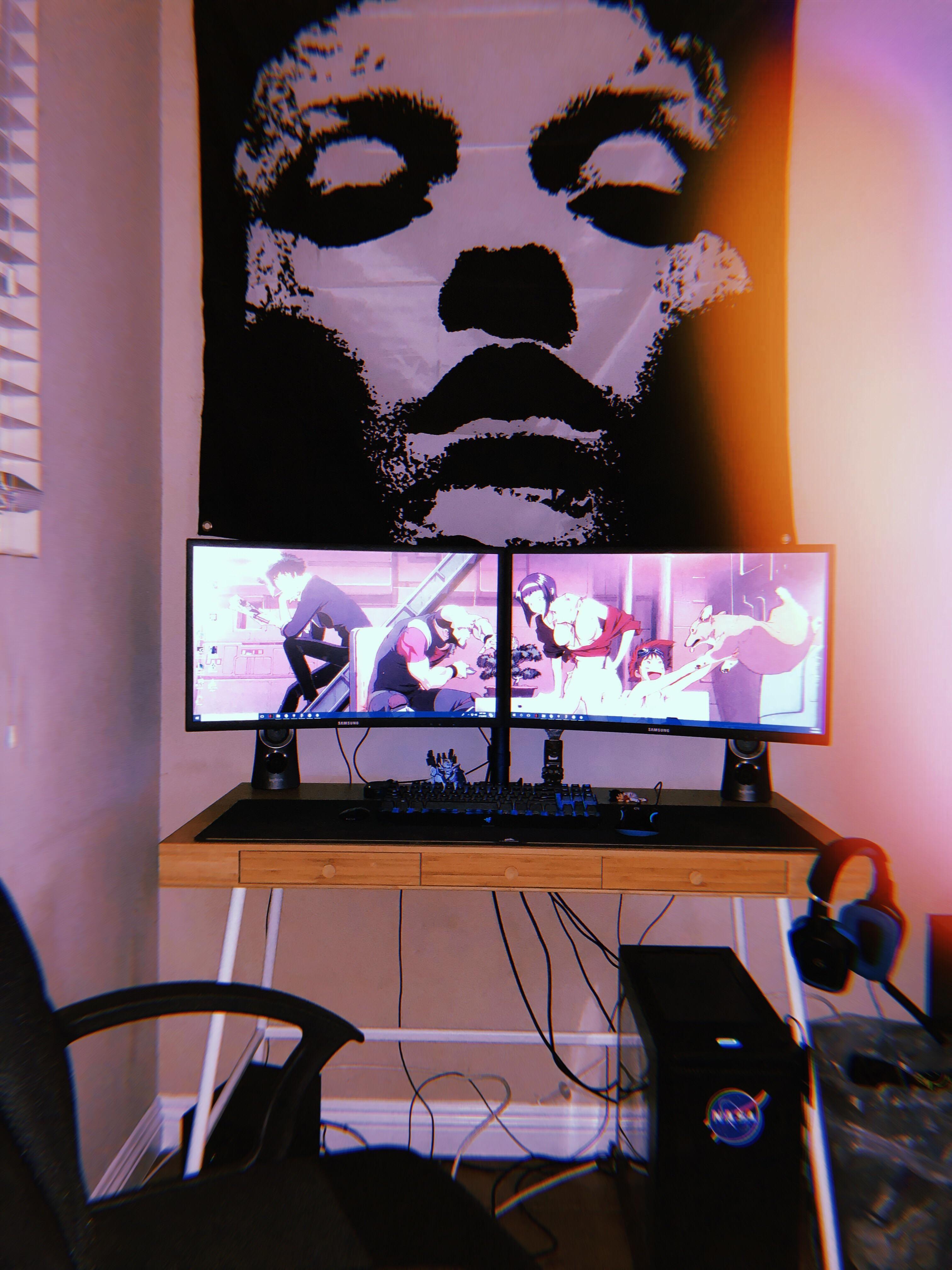 My tiny battlestation wip custom pc pinterest room