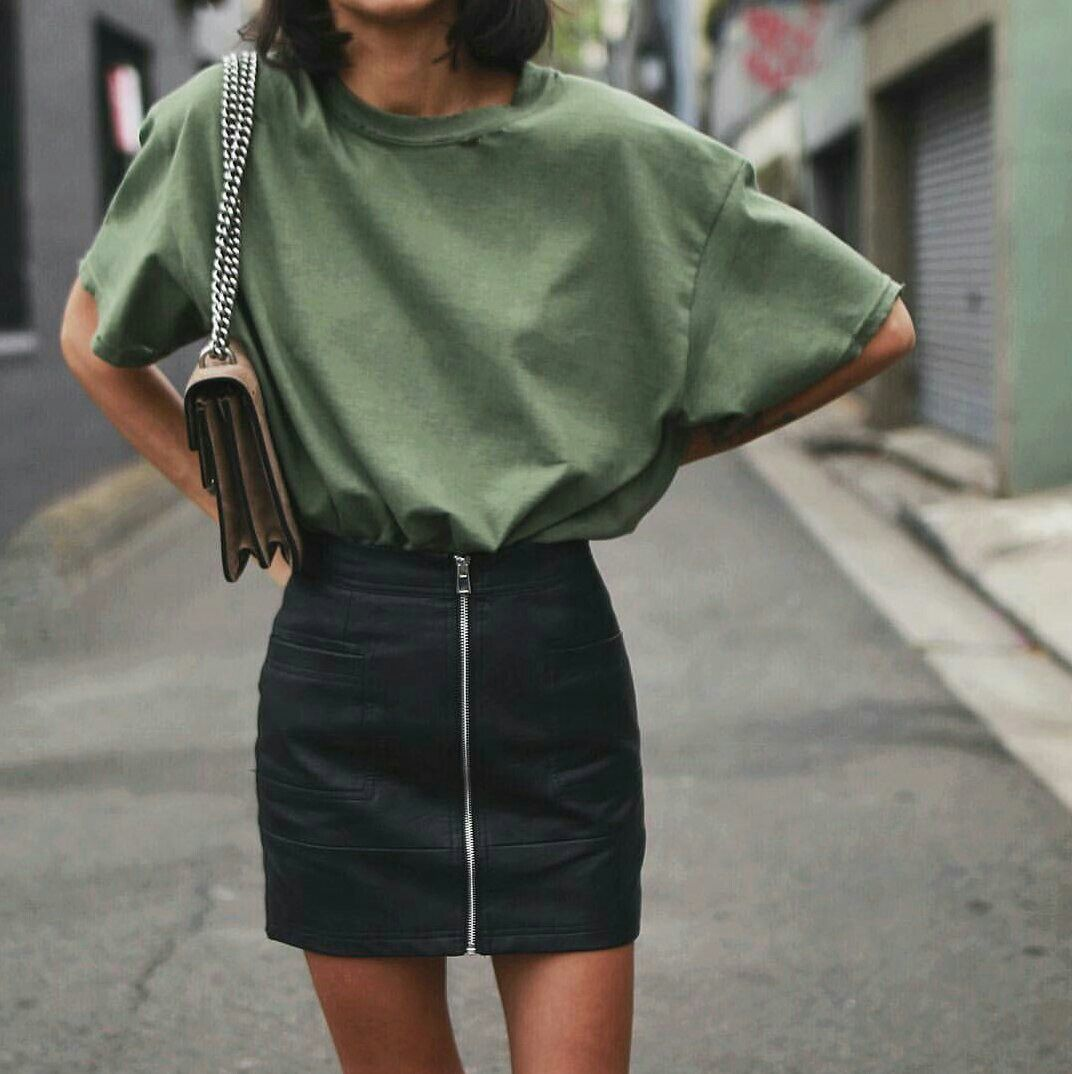 Green t shirt dress outfit  Pin by Julie Watterworth on Skirts  Pinterest  Fashion Outfits