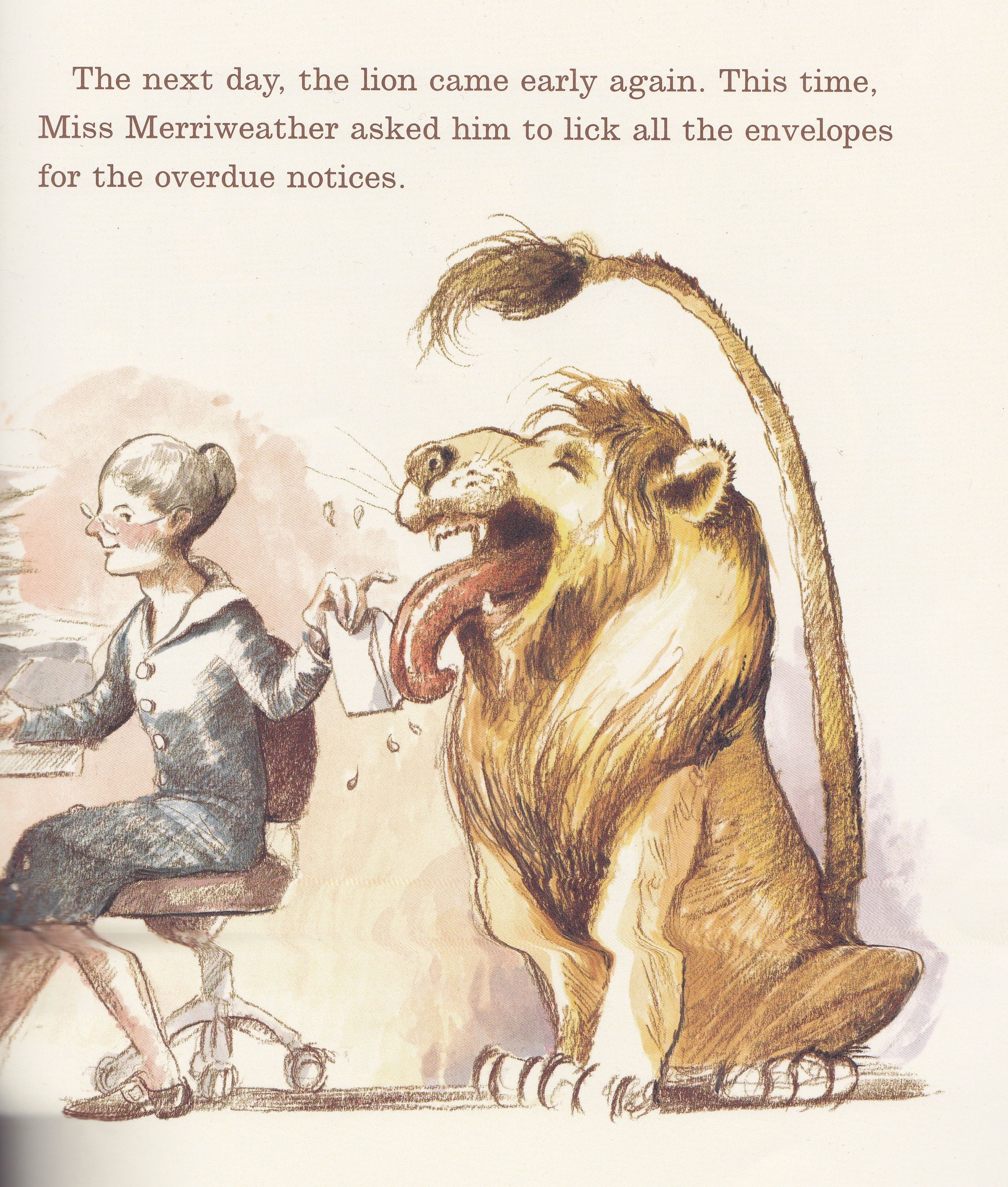 8608354c Library Lion - Knudsen & Hawkes   Illustrated Children's Books ...
