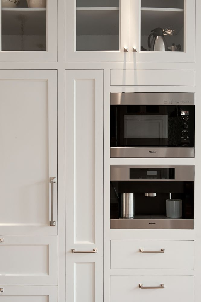 Integrated Microwave Coffee Maker Pull Out Shelf