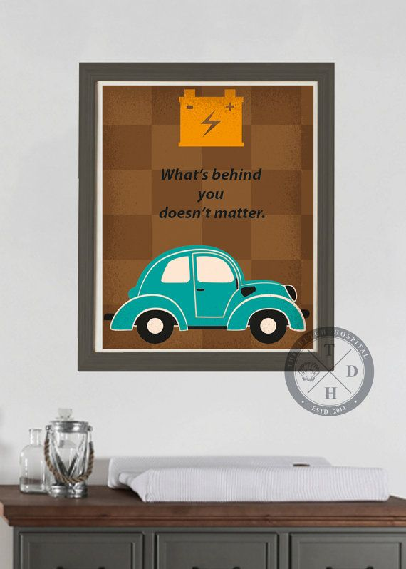 Vintage Cars Red Car Quotes Retro by TheDutchHospitalArt on Etsy