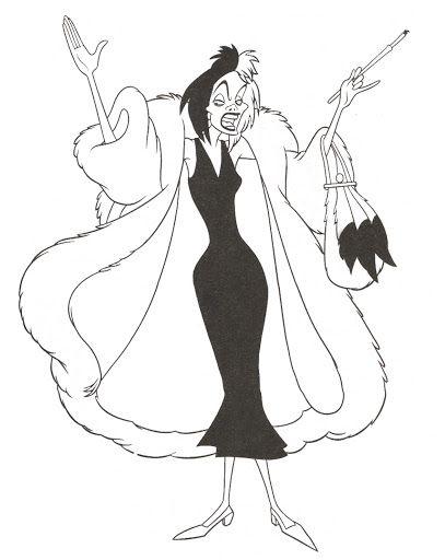 Cruella De Vil coloring page. | Coloring Pages & Activity Sheets ...