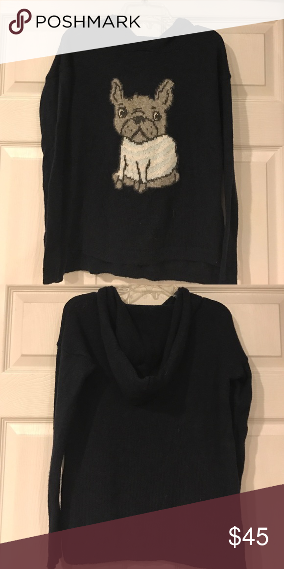 Frenchie Hoodie Excellent Condition Super Soft Abercrombie and Fitch French Bulldog Hoodie Sweater abercrombie kids Shirts & Tops Sweatshirts & Hoodies