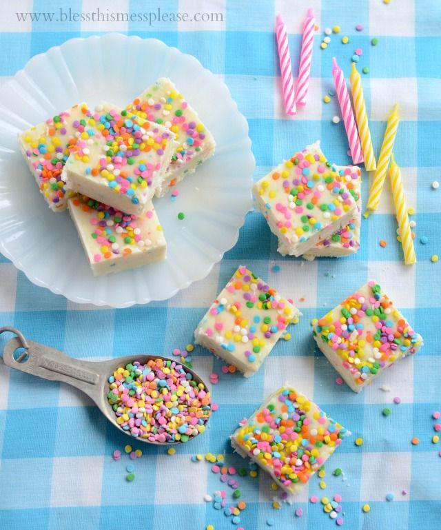Check out No Bake White Chocolate Birthday Cake Fudge Its so