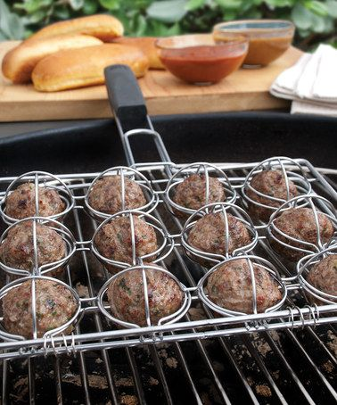 Another great find on #zulily! Meatball Grilling Basket by Steven Raichlen #zulilyfinds