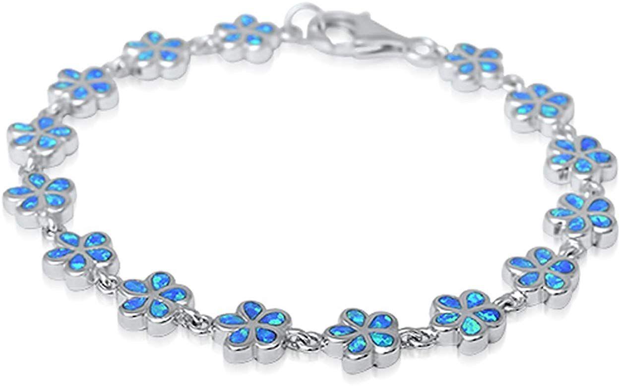 Blue Fire Opal Plumeria .925 Sterling Silver Pendant /& Earrings Set