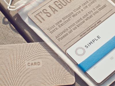 Simple Card Packaging Simple Bank Card Design Credit Card Design