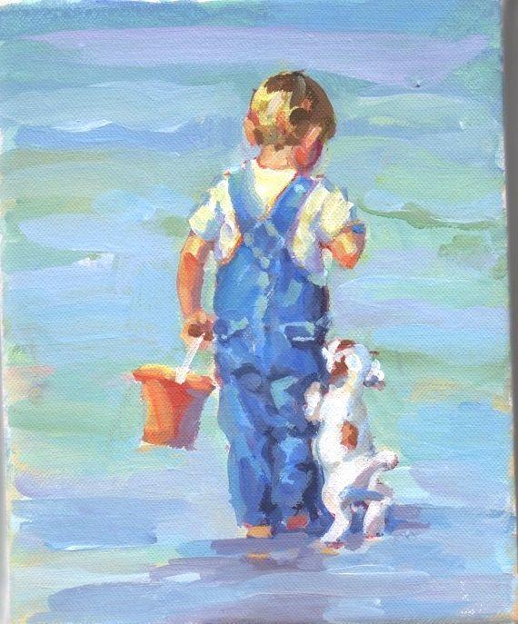 Darling Blonde Boy On The Beach Boys Wall Decor Nursery Wall