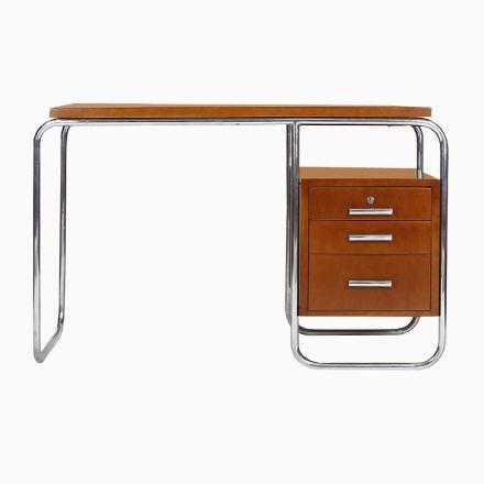 Schreibtisch mit Rohrrahmen, 1930er Jetzt bestellen unter