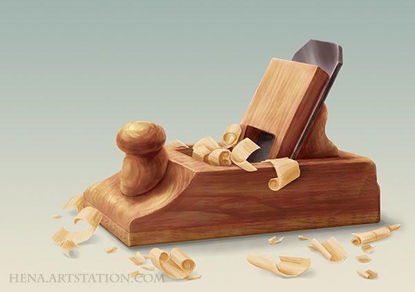 DSA: Wooden Plane, Karin Wittig on ArtStation at https://www.artstation.com/artwork/0eKA5
