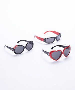 04d43eb51c00 Look what I found on #zulily! Black & Red Minnie Mouse Sunglasses ...