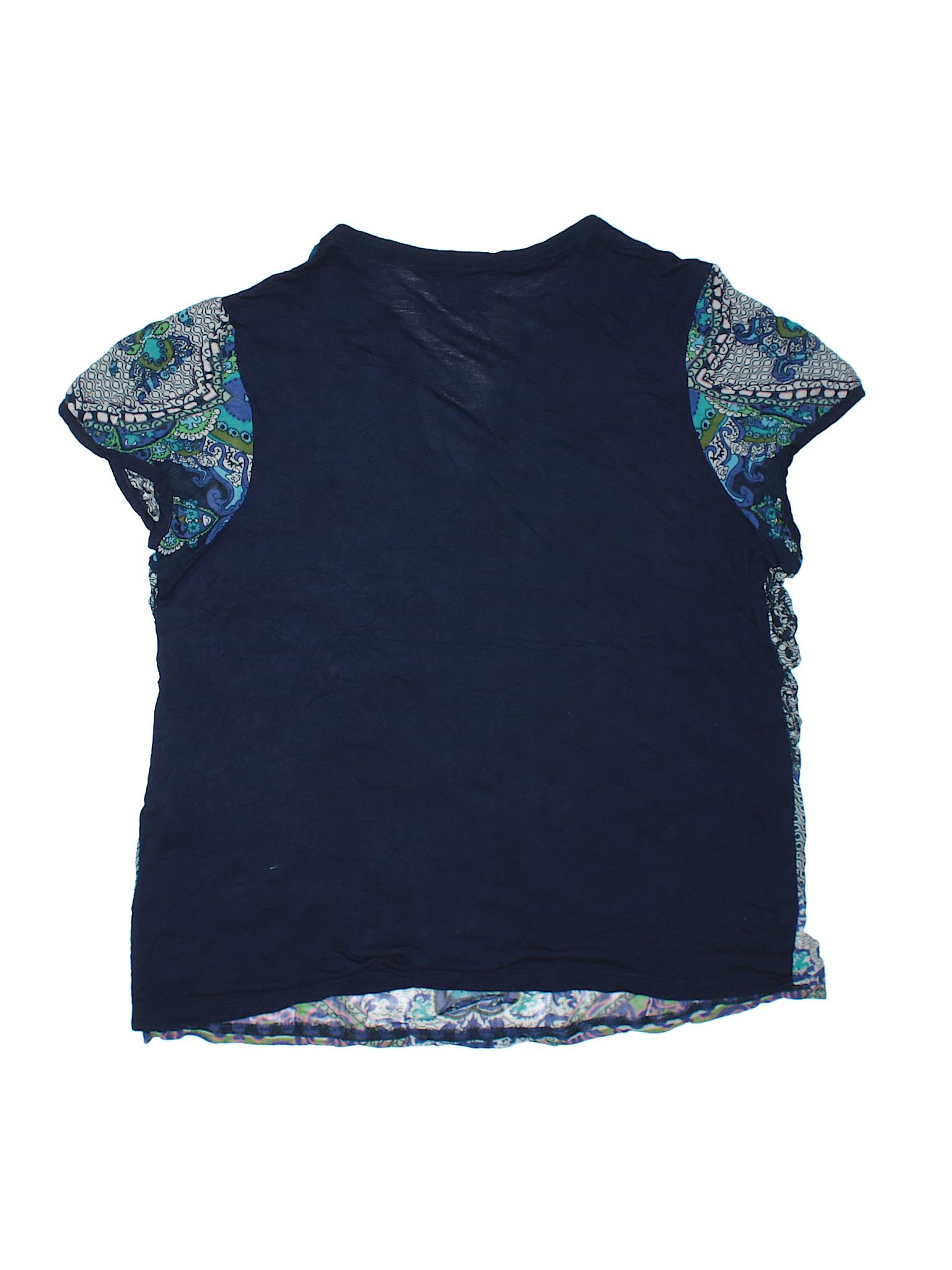 Bila Short Sleeve Top Size 1200 Navy Blue Womens Tops