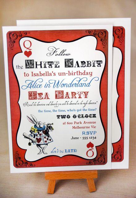 Alice in Wonderland Birthday Party Ideas Wonderland party Alice