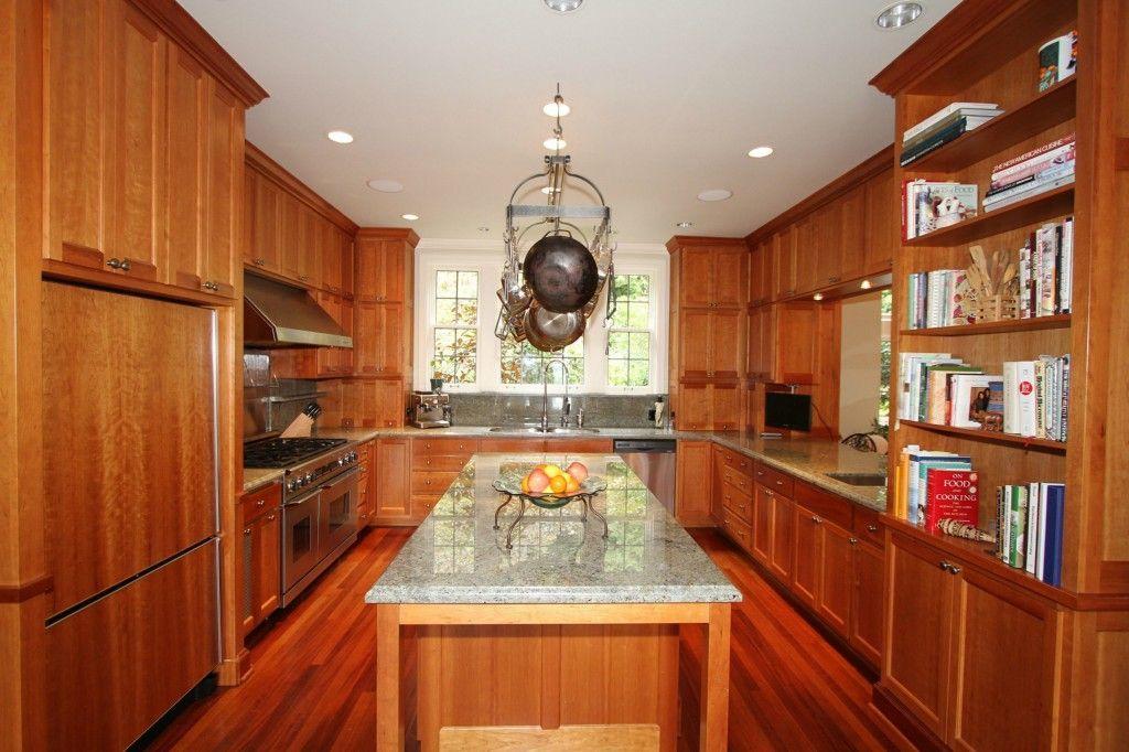 Craftsman Kitchen with flush light, Kitchen island, Inset ...