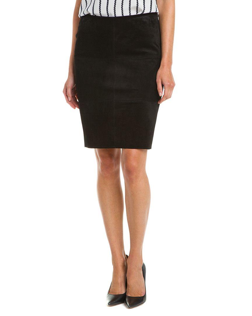Bailey 44 No Snoring Black Suede Leather Skirt @ Rue La La $90