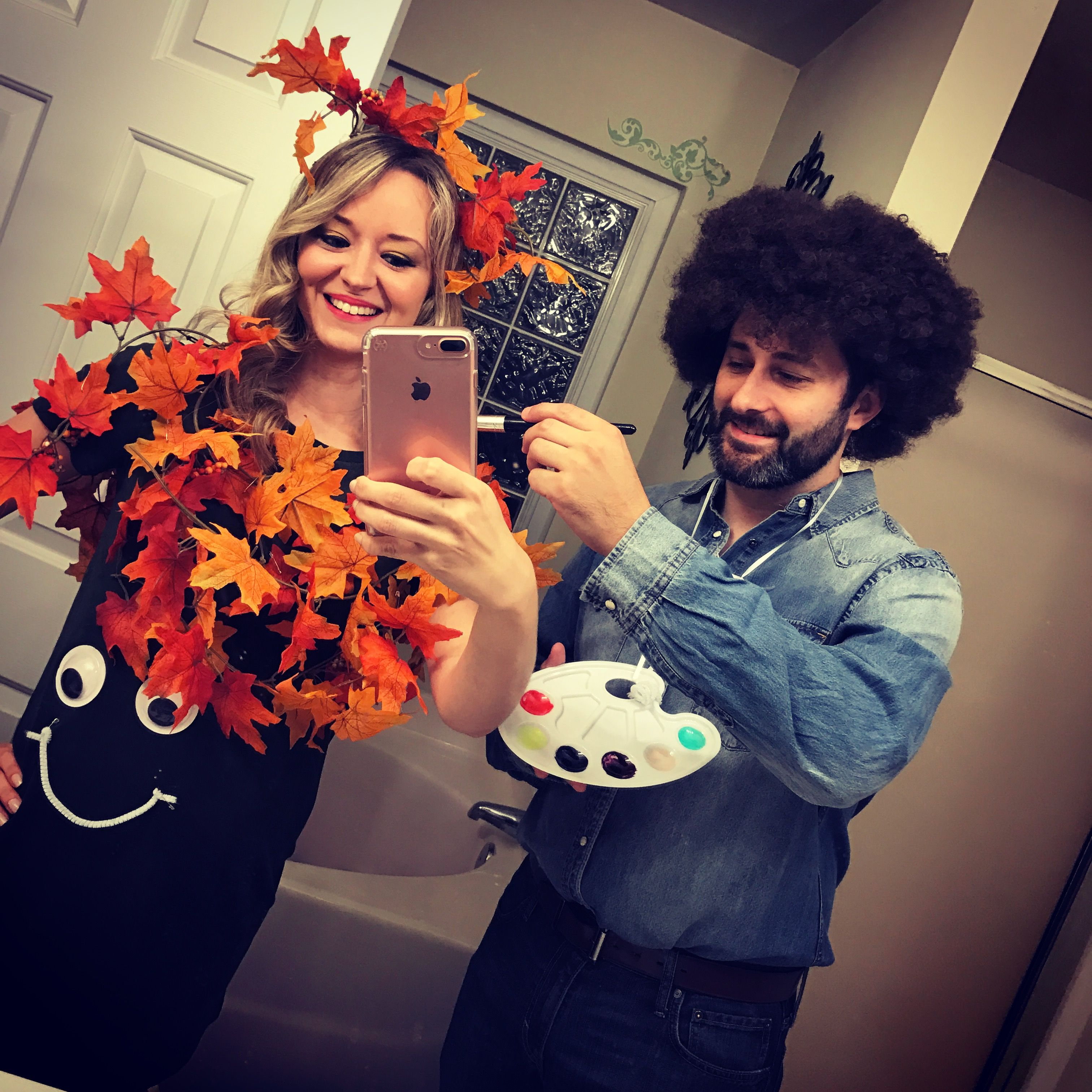 "Bob Ross And ""happy Little Tree"" Costume Bombdotcom"