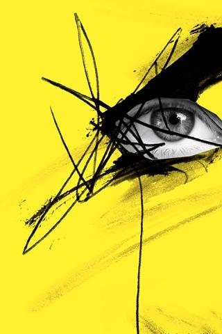 eye s eye eye yellow art yellow black und yellow. Black Bedroom Furniture Sets. Home Design Ideas