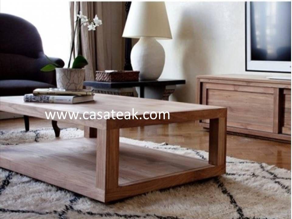 Teak Wood coffee table Malaysia www.casateak.com #Teakwood ...