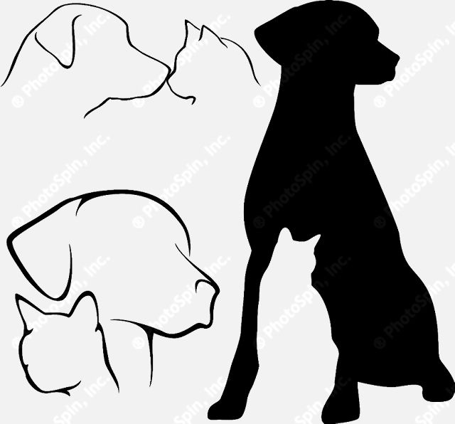 dog and cat silhouette clip art free clipart panda free rh pinterest com au cat and dog clipart black and white cat and dog clipart black and white