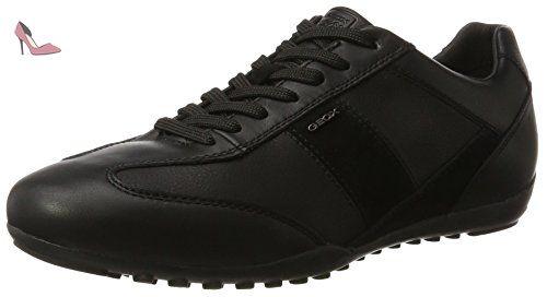 D Avery A, Sneakers Basses Femme, Noir (Gun/Black), 38 EUGeox