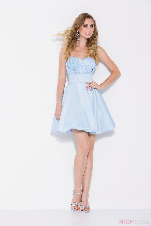 Light Blue Short Prom Dresses | ... LIGHT BLUE PLEATED STRAPLESS ...