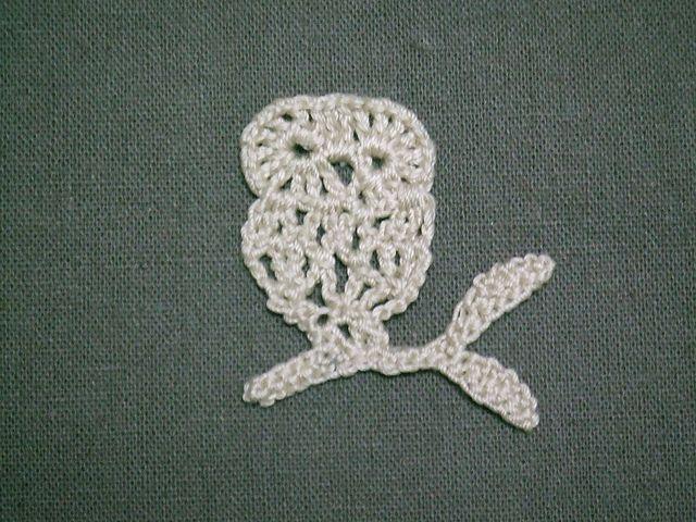 crochet owl motif | appliques crocheting | Pinterest | Apliques ...