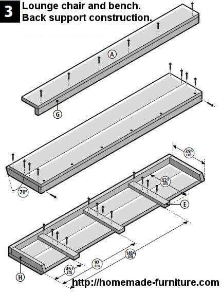 Bench seat. Do it yourself building plans for a garden