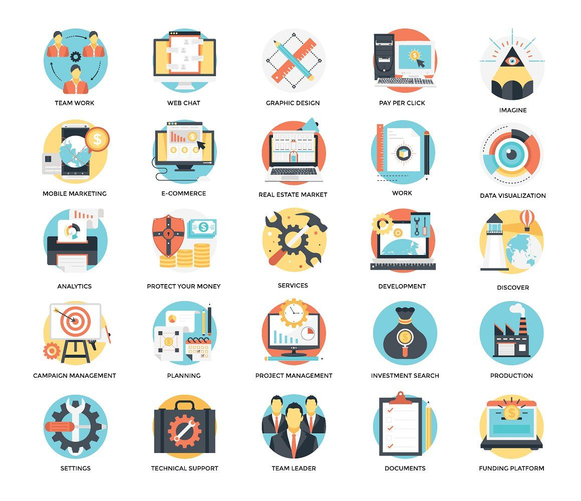 300 Flat Business Icons Business Icon Custom Icons Animated Icons